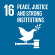SDGs16 PEACE, JUSTICE AND STRONG INSTITUTIONS